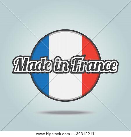 Made in France badge. Vector illustration stamp.