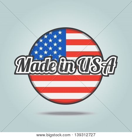Made in USA badge. Vector illustration stamp.