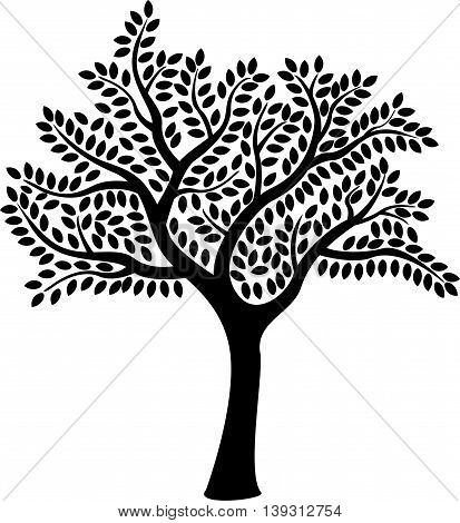 beauty black tree silhouette for you design