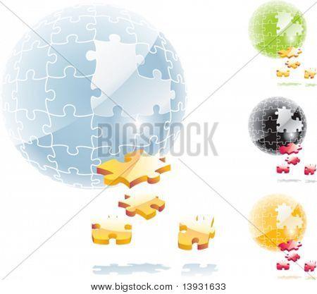 Esfera de rompecabezas de Vector