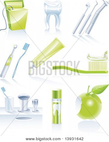 Conjunto de iconos dental de Vector