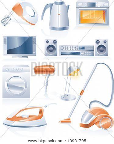 Iconos de los aparatos domésticos de Vector
