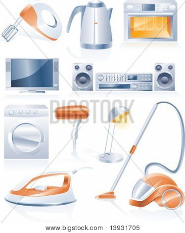 Vektor-Icons für Haushaltsgeräte