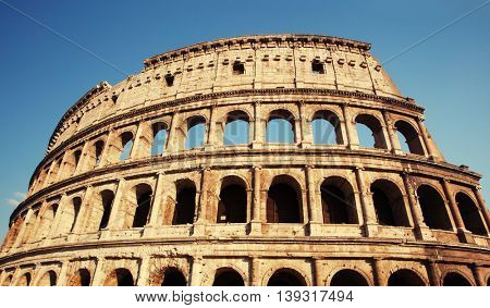 Coliseum. Famous place at Italy. Rome
