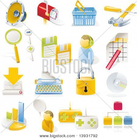 Vector objects icons set. Part 1