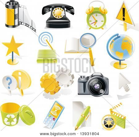 Vector objects icons set. Part 3