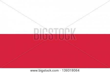Vector Republic of Poland flag