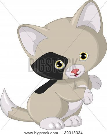 cute cat cartoon posing for you design