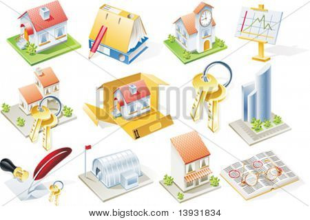 Vector real estate icon set. Part 1