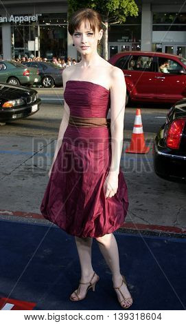 Alexis Bledel at the Los Angeles premiere of 'Sisterhood of the Traveling Pants' heldat the Grauman's Chinese Theatre in Hollywood, USA on May 31, 2005.