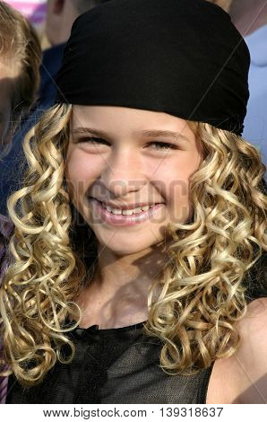 Jenna Boyd at the Los Angeles premiere of 'Sisterhood of the Traveling Pants' heldat the Grauman's Chinese Theatre in Hollywood, USA on May 31, 2005.