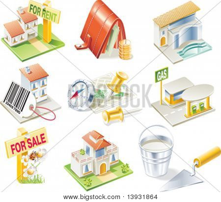 Vector real estate icon set. Part 2