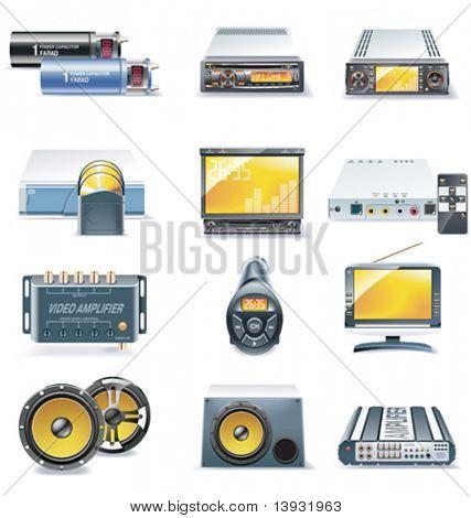 Auto Stereo-Systeme Vektoricons