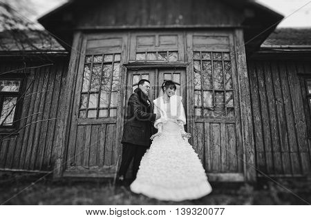 Wedding Couple Background Old Scary Vampire House