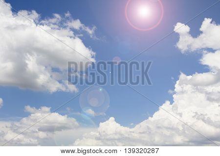 Beautiful blue sky. light, bright. cloud, background