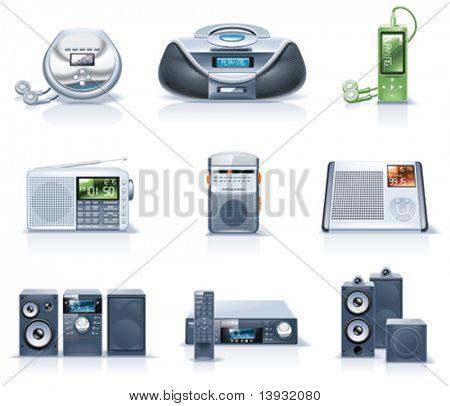 Ícones de aparelhos domésticos de vetor. Parte 8