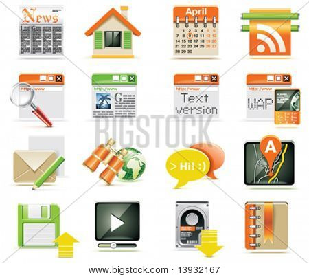 Vektor-Webseite-Icon-set