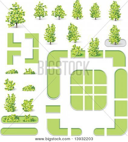 City map creation kit (DIY). Part 10. Parks and lawns