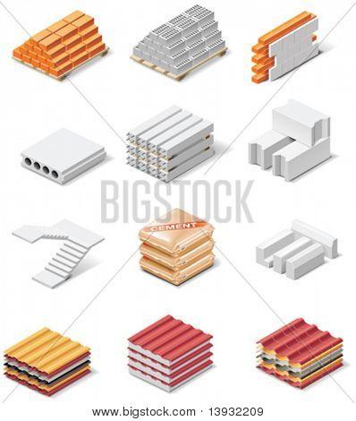Vektor Produkte Symbole erstellen. Teil 1. Betonelemente