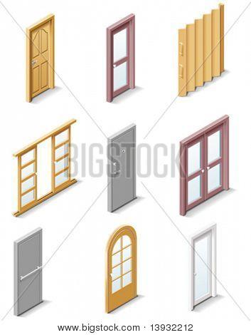 Vektor Produkte Symbole erstellen. Teil 3. Türen