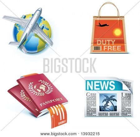 Travel and vacations icons. Part 1