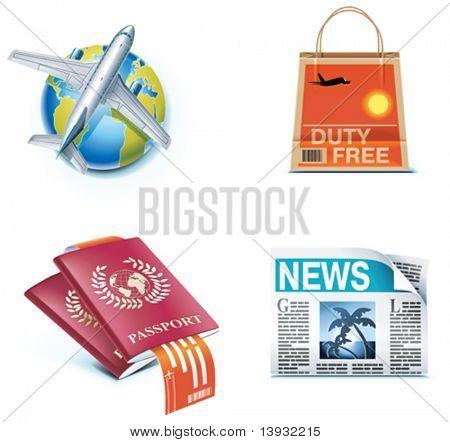 Iconos de viajes y vacaciones. Parte 1