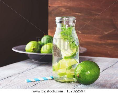 Detox Water With Limes