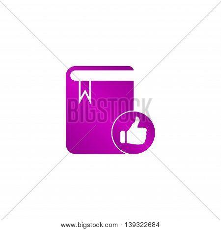 Book Icon. Flat Design Style