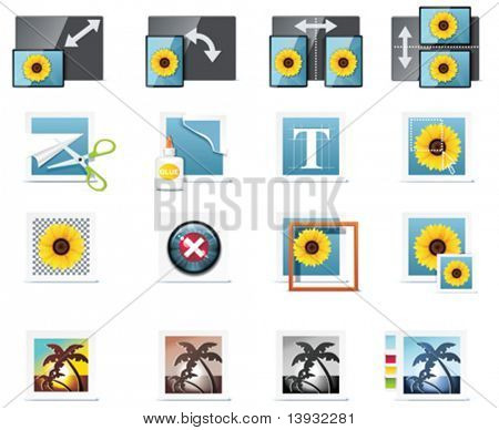 Vector photography icons. Part 6