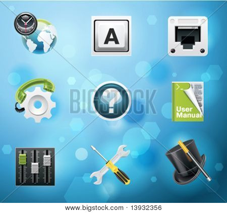 Typical mobile phone apps and services icons. EPS 10 version. Part 8 of 10