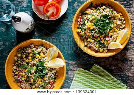 Plates Of Refreshing Summer Bulgur Salad