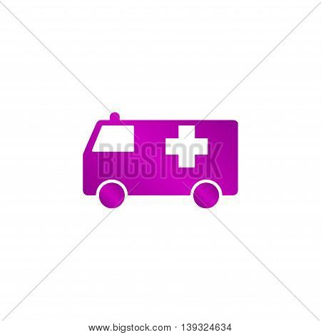 Ambulance Icon. Flat