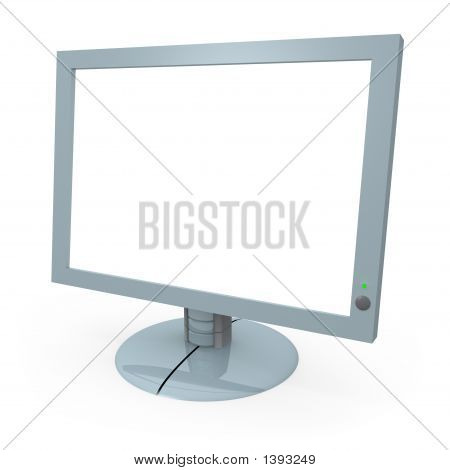 Monitor de la computadora con pantalla en blanco