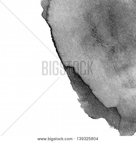 Abstract Hand drawn Grayscale Watercolor background. Splash Watercolour texture