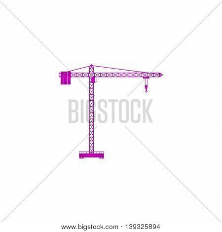 Crane icon. Flat design style EPS 10