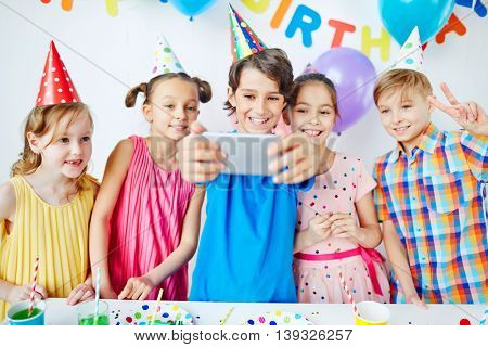 Selfie of kids