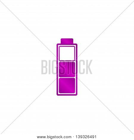 Battery icon. Flat design style eps 10