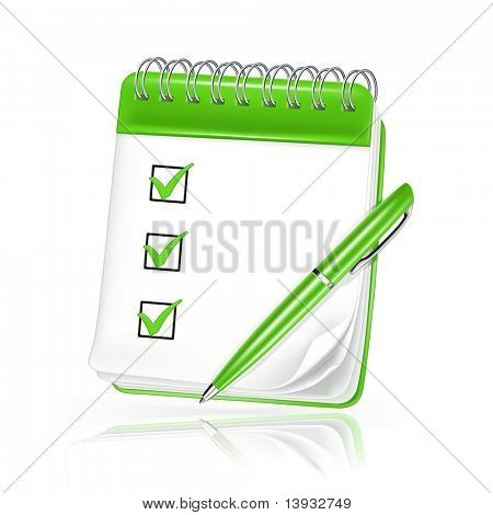 Spiral notebook vector icon