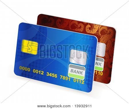 Credit cards, vector