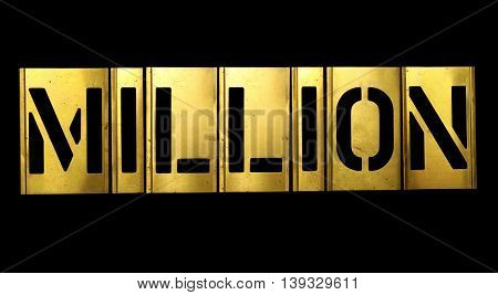 Million Military Stencil Army Letters on black background