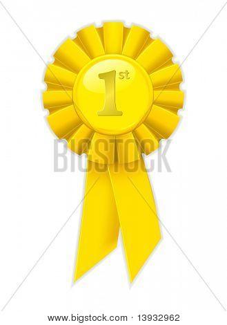 Erster Platz yellow Ribbon, vector