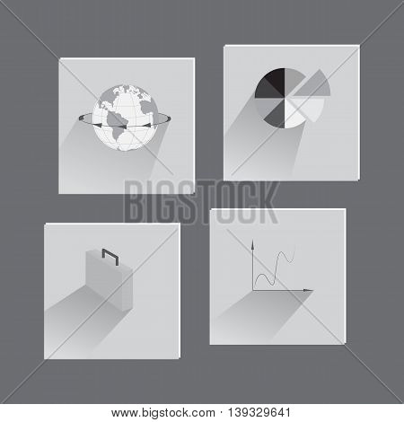 Set with Flat Icons on Business Theme. Suit for Web Usage and Mobile apps.Vector EPS 10