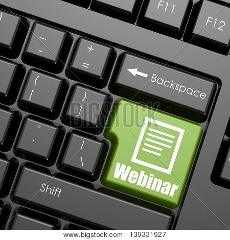 Computer Keyboard With Word Webinar