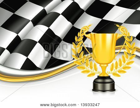 Background with a Trophy, mesh