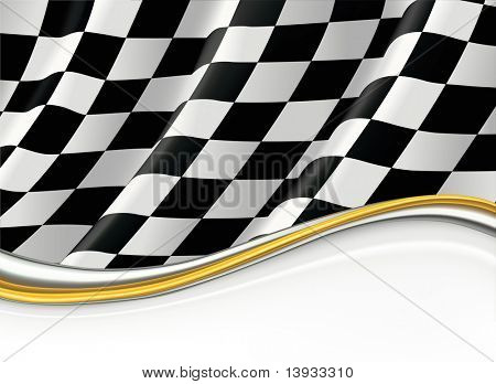 Checkered Flag, vector background