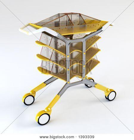 Handcart 3D Rendering