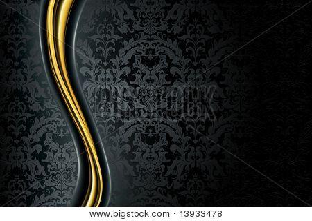Fondo de lujo negro