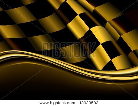 Golden checkered backdrop