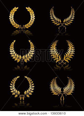 Set of Wreath, vector