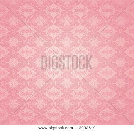 Seamless wallpaper pattern, pink